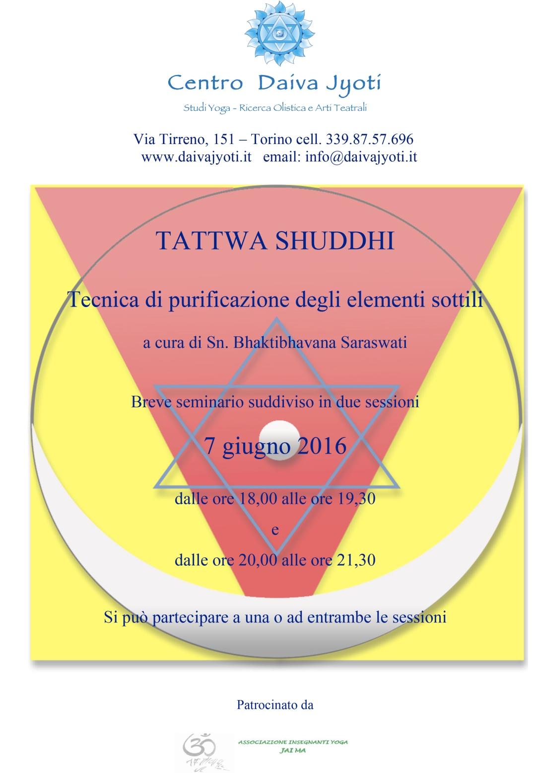 Microsoft Word - NEW TATTWA SHUDDHI 7 GIUGNO 2016.docx