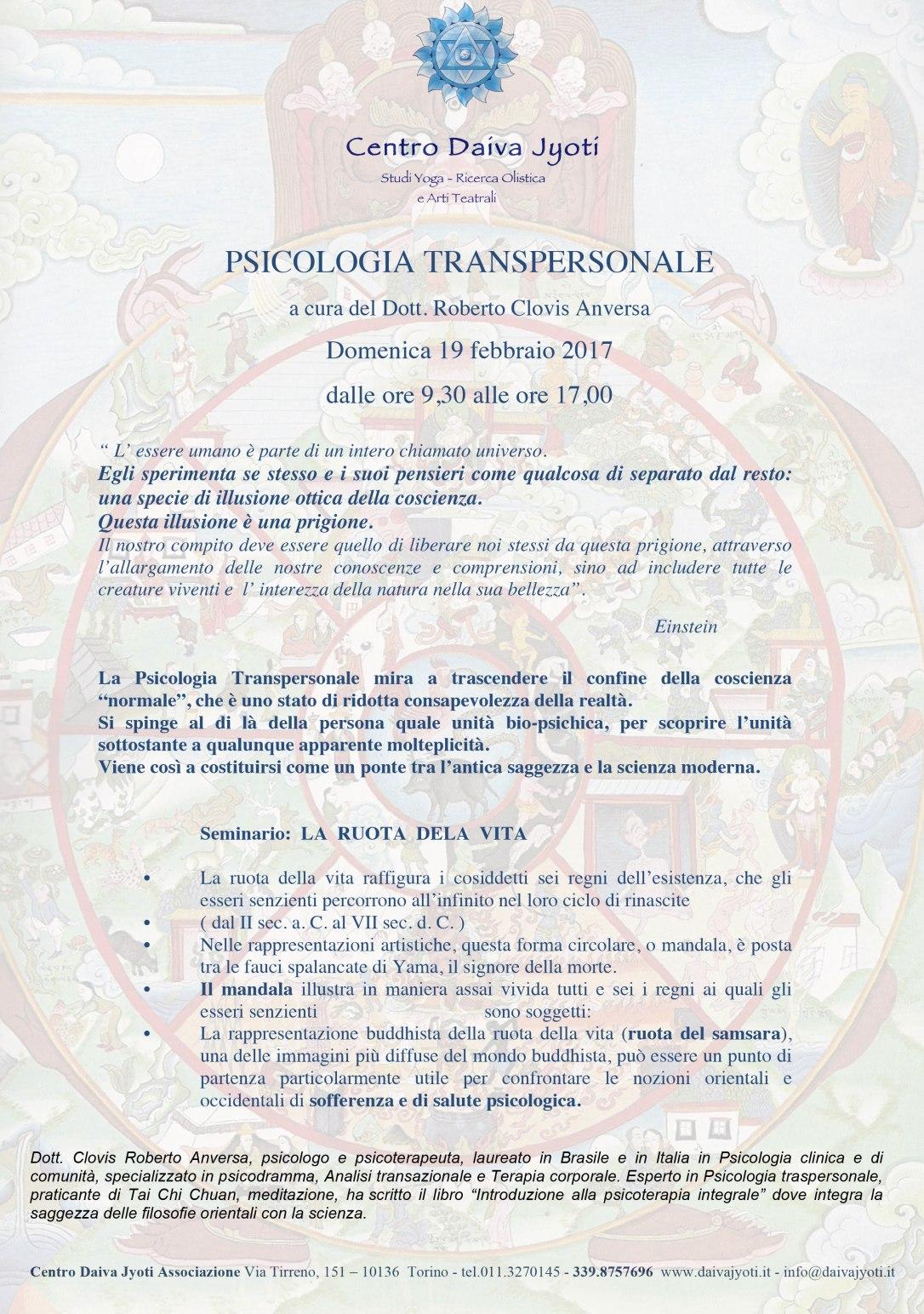 Microsoft Word - pre PSICOLOGIA TRANSPERSONALE - LA RUOTA DELLA